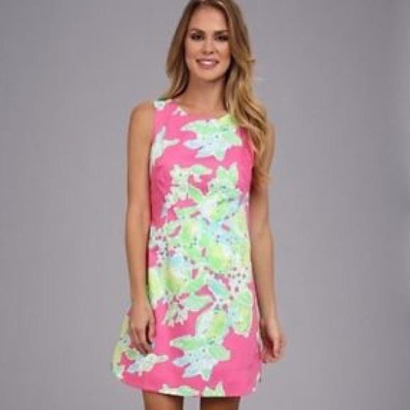 b4afb2fb063 NWT Lilly Pulitzer Delia Shift Dress Pink Lemonade